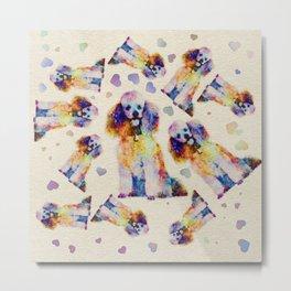 Color splash poodle dog on canvas Metal Print