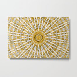 Kaleidoscope Chips in Paper Pattern Metal Print