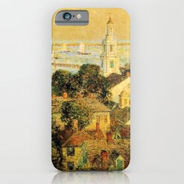 Classical Masterpiece 'Provincetown' by Frederick Childe Hassam iPhone Case