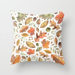 Autumn/Fall Leaves Throw Pillow