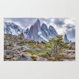 Snowy Mountains at Laguna Torre El Chalten Argentina Rug