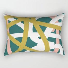 Abstract Lines 02B Rectangular Pillow