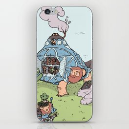 Turtle Library iPhone Skin