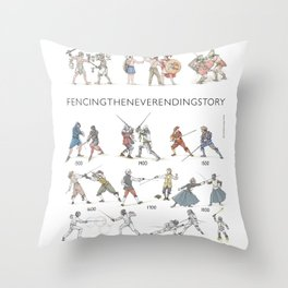 "Fencing ""Quick fencing history"" Throw Pillow"