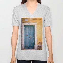 Turquoise Door Unisex V-Neck