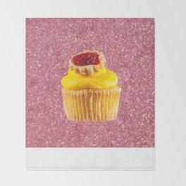 Cupcake Love | Lemon Cherry Pie on Pink Sparkle Throw Blanket