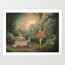 Flowers for the Table Art Print