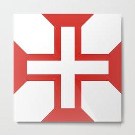 Cross of the Order of Christ (Cruz da Ordem de Cristo) Metal Print