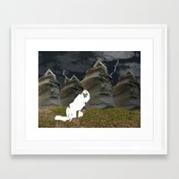 plain Framed Art Prints featuring Vacant Plain by BriS
