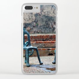 Cat nap Clear iPhone Case