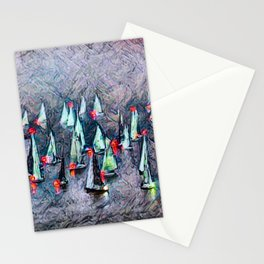 SAILBOAT BAY-Afterglow Stationery Cards
