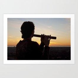 Sunset Tunes Art Print