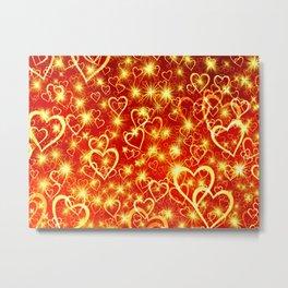 Hearts On Fire Metal Print