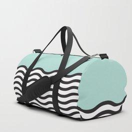 Waves of Green Duffle Bag