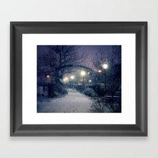 Winter Garden in the Snow Framed Art Print