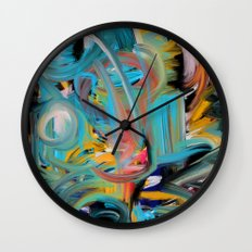 The Storm Abstract Expressionism Art Wall Clock