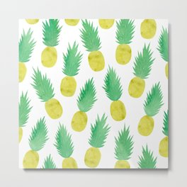 Pineapple Mood Metal Print