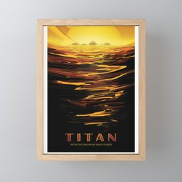 NASA Visions of the Future - Titan: Ride the tides through the throat of Kraken Framed Mini Art Print