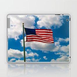 American Flag in Big Blue sky Laptop & iPad Skin