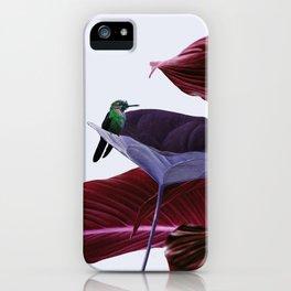 Pink leaf iPhone Case