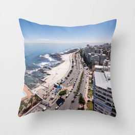 Sea Point in Cape Town, South Africa Throw Pillow