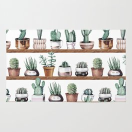Cactus Shelf Rose Gold Green Rug