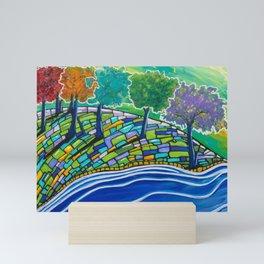 Rainbow Trees Mini Art Print