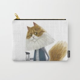 A cat holding a tumbler Carry-All Pouch
