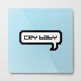 Cry Baby - Blue Metal Print