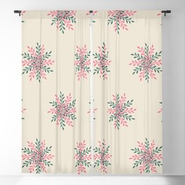 Overlapping Leaves | Blush, Sage Green and Beige Color Palette Blackout Curtain
