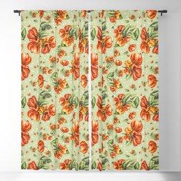 Tropical fruit - Pitanga - Orange and salmon Blackout Curtain
