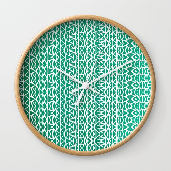 Tribal Forest Wall Clock