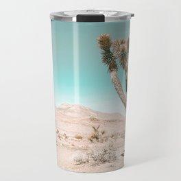 Vintage Desert Scape // Cactus Nature Summer Sun Landscape Photography Travel Mug