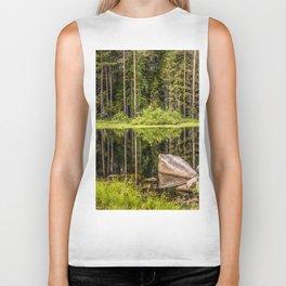 Quiet Forest lake Biker Tank