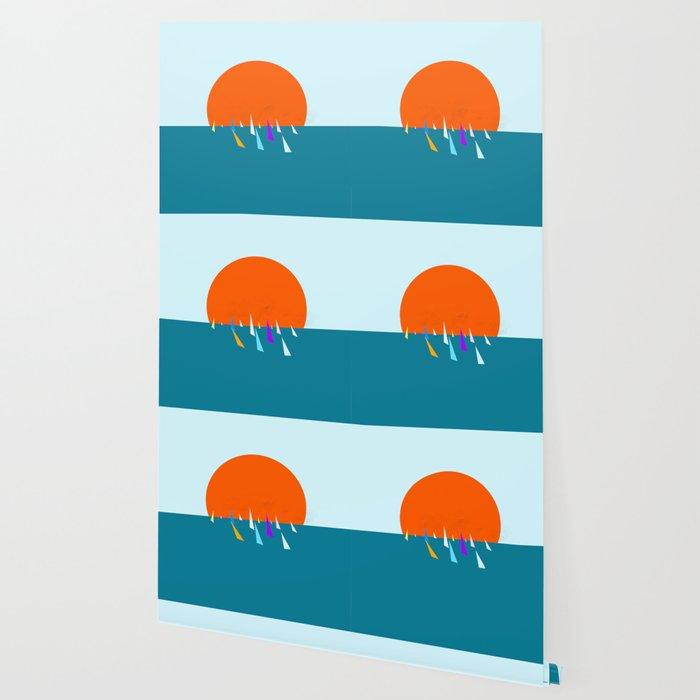 Minimal regatta in the sun Wallpaper