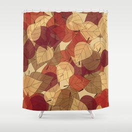Fallen Leaves Large Shower Curtain