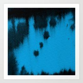 Turquoise blur Art Print