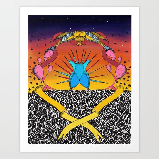 Encuentro Art Print