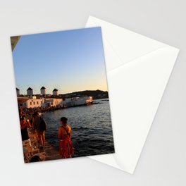 Windmills of Mykonos Stationery Cards