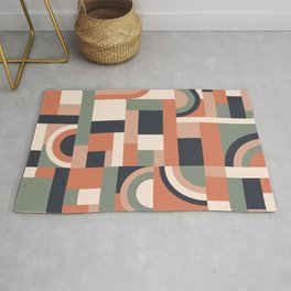 Earth Tones Blocks #society6 #pattern Rug