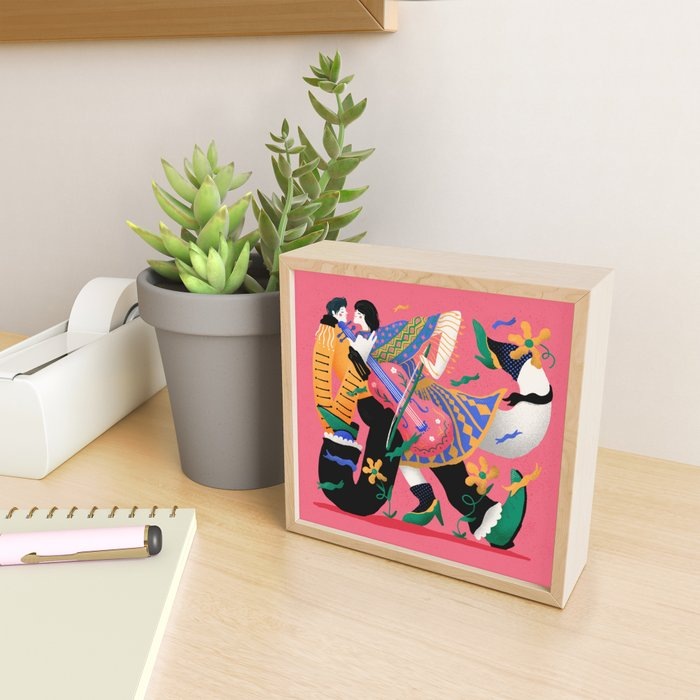 Mariachi Love 3 Framed Mini Art Print
