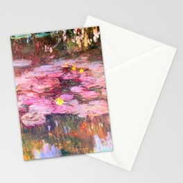 Water Lilies monet 1917 enhanced Stationery Cards