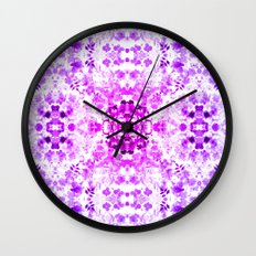 Floral Print - Magenta & Purple Wall Clock