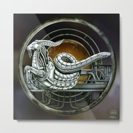 """Astrological Mechanism - Capricornus"" Metal Print"