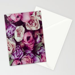 magnificent painted flowers Stationery Cards