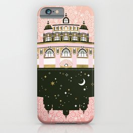 Budapest Bath House – Peach & Gold Palette iPhone Case
