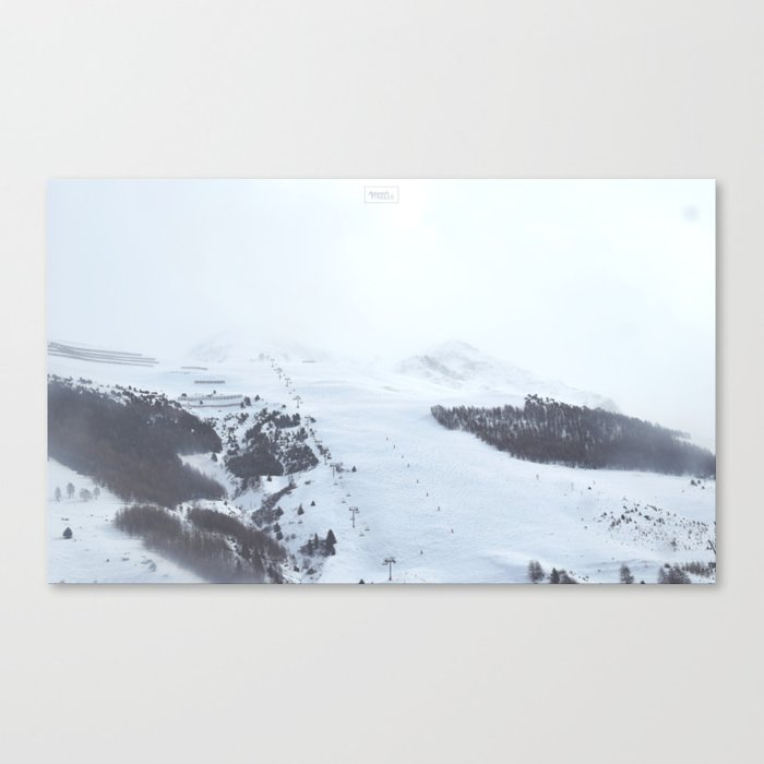 After the snow comes the sun Canvas Print