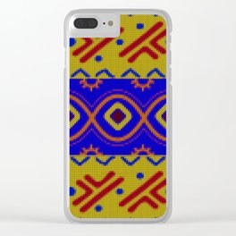 Ethnic African Knitted style design Clear iPhone Case