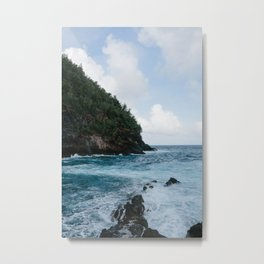 Cliffside Ocean View Metal Print