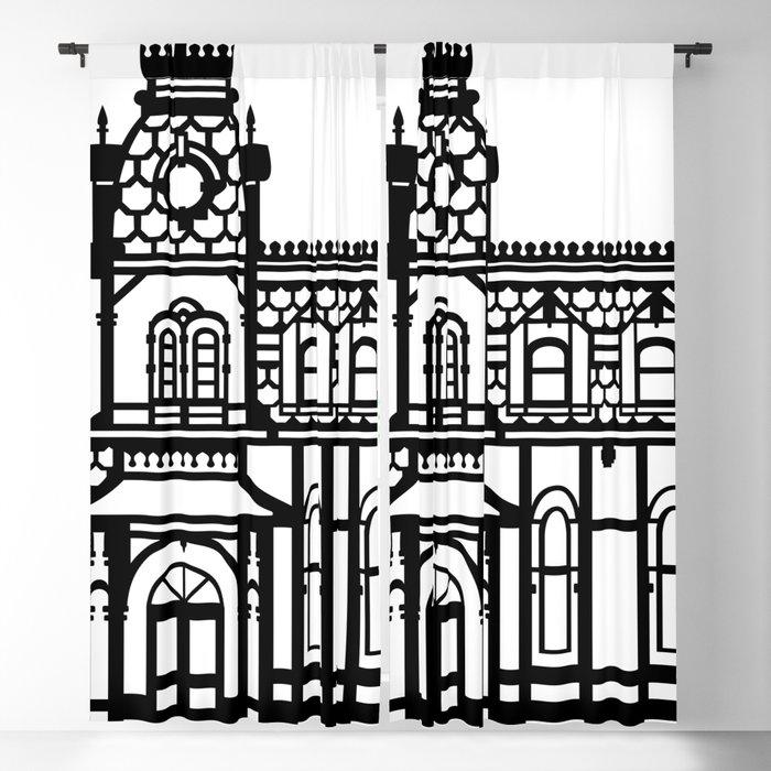 White Blackout Curtain